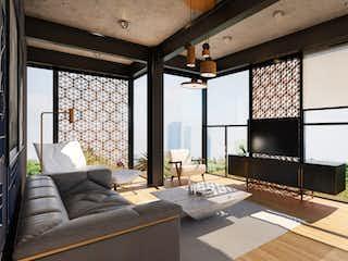 Una sala de estar llena de muebles y una ventana en Viveros Amsterdam