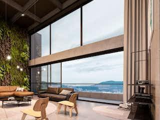 Una sala de estar llena de muebles y una gran ventana en Apartamento nuevo en el Poblado Mood