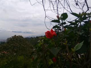 Una señal de parada roja sentada en medio de un campo en Vendo Lote Loma del Escobero 4000 mts