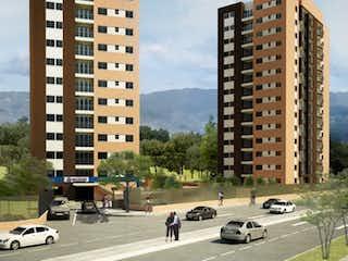 Una calle de la ciudad llena de muchos edificios altos en Vendo apartamento en Pilarica