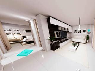 Una vista de una sala de estar y una sala de estar en Apartamento venta Sabaneta El Carmelo Lomitas P.22 C.3331185