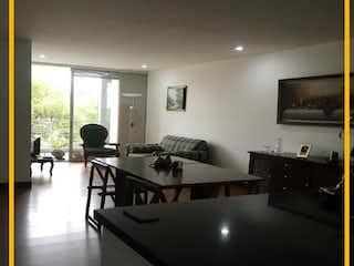 Una vista de una sala de estar y una sala de estar en Apartamento en venta en Barrio Pasadena de 3 hab. con Bbq...