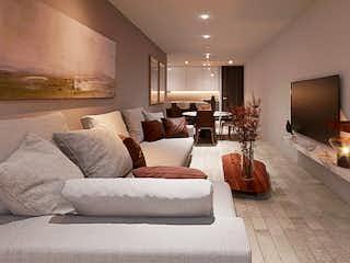 Una sala de estar llena de muebles y una televisión de pantalla plana en Rio Rhin 9