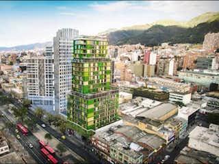 Una vista de una ciudad en la ciudad en Apartaestudio En Venta En Bogota Chapinero
