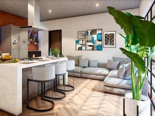 Una sala de estar llena de muebles y una planta en maceta en Alfonso Herrera 51