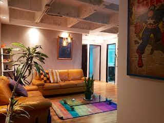 Una sala de estar llena de muebles y una gran ventana en Apartamento en venta en La Doctora, de 87mtrs2