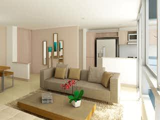 Una sala de estar llena de muebles y una televisión de pantalla plana en Moratto