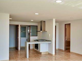 Una sala de estar llena de muebles y un suelo de madera en Departamento en Venta en San Jeronimo Lidice La Magdalena Contreras