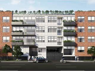 Una calle de la ciudad llena de edificios y edificios en Departamento en venta en Narvarte 117m² con Jardín...