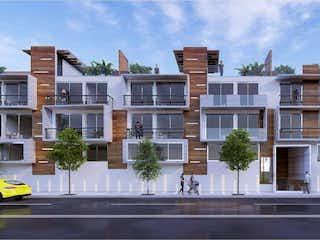 Una vista de una calle con un edificio en el fondo en Departamento en venta en Santa María La Ribera de 2 hab. con Gimnasio...