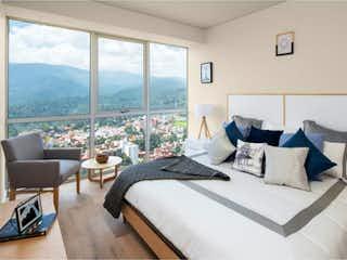 Una habitación de hotel con dos camas y una gran ventana en Departamento en Venta en Lomas de Memetla Cuajimalpa de Morelos