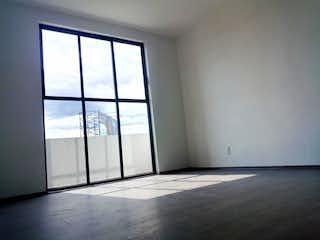 Una vista de una habitación con una puerta corredera de cristal en Departamento en venta en San Pablo Tepetlapa, 166m² con Jardín...