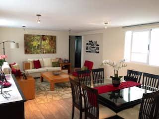 Una sala de estar llena de muebles y una mesa en Departamento en Venta en Tetelpan Álvaro Obregón