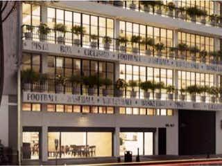 Un gran edificio con un gran edificio en el fondo en Departamento en venta en Santa María La Ribera de 2 alcobas
