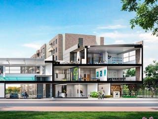 Un par de personas caminando por una calle en Apartamento en venta en Casco Urbano Zipaquirá de 60m² con Piscina...