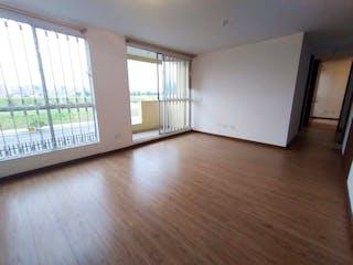 Una vista de una sala de estar con suelos de madera en VENTA APARTAMENTO PISO 2 EXTERNO PARQUE RESIDENCIAL SOL NACIENTE
