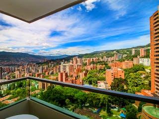 Una vista de una ciudad desde una ventana en Classic Unit In El Tesoro W/amazing City View