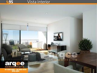 Una sala de estar llena de muebles y una televisión de pantalla plana en Gutiérrez Zamora 95