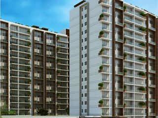 Un edificio alto sentado al lado de un edificio alto en Departamento en venta en Tetelpan de 2 alcobas