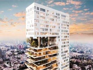 Un edificio alto con un reloj en él en Departamento en venta en San ángel de 86m² con Gimnasio...