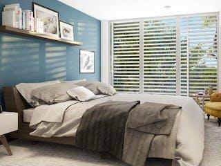 Una habitación de hotel con una cama y un sofá en Departamento en venta en Juárez 97m²