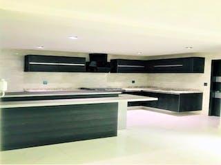 Una vista de una cocina con electrodomésticos de acero inoxidable en Departamento en venta en Anzures de 3 alcobas