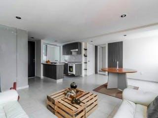 Una sala de estar llena de muebles y una chimenea en MOCTEZUMA DEPARTAMENTO 3 RECAMARAS