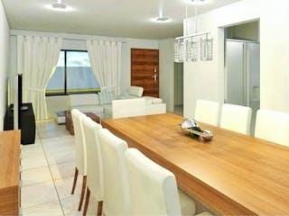 Una gran sala de estar con un gran ventanal en Casa en Venta en Centro Urbano Sector C 24 C (condominio Elite) Cuautitlán Izcalli