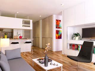 Una sala de estar llena de muebles y una televisión de pantalla plana en Alameda 44