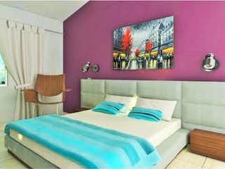 Un dormitorio con una cama y una ventana en Departamento en venta en Granjas Lomas De Guadalupe con acceso a Piscina