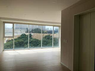 Una vista de una habitación con una puerta corredera de cristal en Departamento en venta en Bosque Real Country Club, 135m² con Jardín...