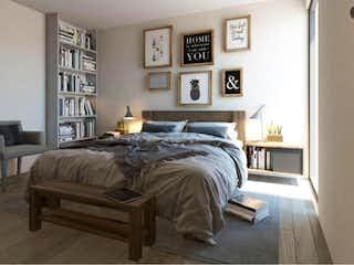 Una cama sentada en un dormitorio junto a una ventana en Departamento en Venta en Hacienda del Parque 1A Sección Cuautitlán Izcalli
