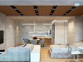 Una sala de estar llena de muebles y una ventana en Departamento Venta en Av Insurgentes Sur, Roma