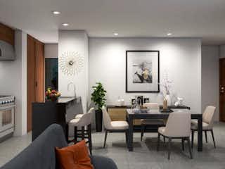 Una sala de estar llena de muebles y una mesa en Focus Cuajimalpa