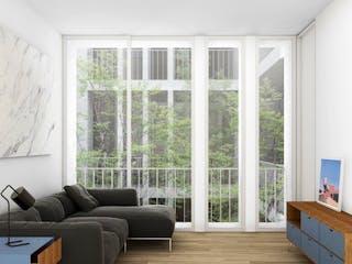 Una sala de estar llena de muebles y una ventana en Dr. Atl 238