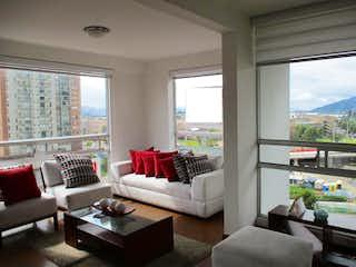 Una sala de estar llena de muebles y una gran ventana en Apartamento En Venta En Bogota Nueva Zelandia
