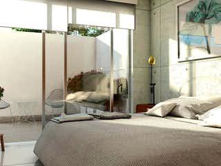Una sala de estar llena de muebles y una gran ventana en VENDO DEPARTAMENTO EN BENITO JUÁREZ, NATIVITAS