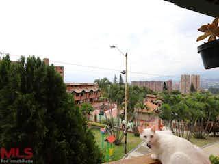 Un perro blanco sentado delante de un edificio en Quintanar De Calasanz