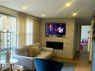 Una sala de estar llena de muebles y una televisión de pantalla plana en Pontevedra MG