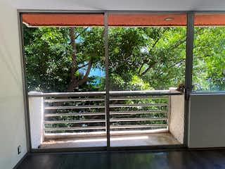 Una ventana que tiene un montón de árboles en ella en Deparatemnto en venta en la condesa con balcon
