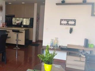 Una cocina con una estufa, un fregadero y un refrigerador en Apartamento en venta en La Felicidad de 3 hab. con Piscina...