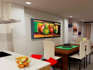 Una sala de estar llena de muebles y una televisión de pantalla plana en Apartamento En Venta En Laureles Lorena