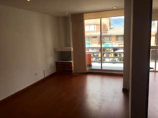 Una vista de una sala de estar y una sala de estar en Apartamento en venta en Casco Urbano Chía de 3 habitaciones