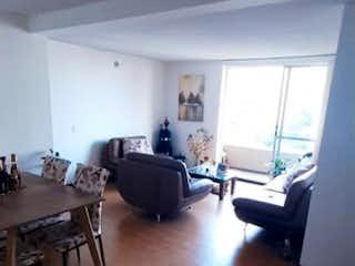 Una sala de estar llena de muebles y un suelo de madera en Apartamento en venta en Loma de los Bernal, de 73mtrs2
