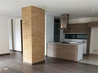 Una sala de estar con un suelo de madera dura en Vendo hermoso apartamento Bella Suiza exterior
