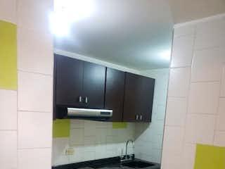 Cocina con fogones y microondas en Apartamento en venta en Marly, de 47mtrs2