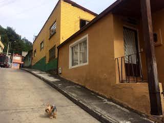 Un perro está de pie delante de una casa en Lote En Venta En Bogota Usaquen