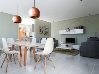 Una sala de estar llena de muebles y una chimenea en Sevilla 913