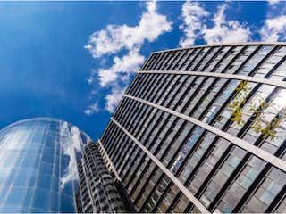 Un primer plano de un edificio con un fondo de cielo en Departamento en venta en Anáhuac, 60m² con Jardín...