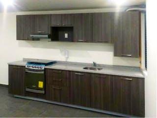 Una cocina con una estufa de fregadero y microondas en Departamento en Venta en Cooperativa Palo Alto Cuajimalpa de Morelos